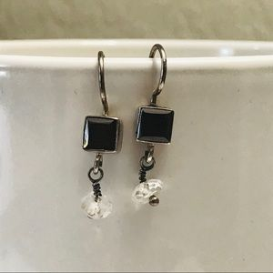 Jewelry - Simple Precious Red Stone Silver 925 Earrings